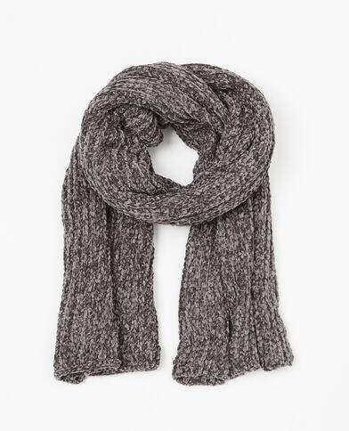 Sciarpa in maglia ciniglia nero