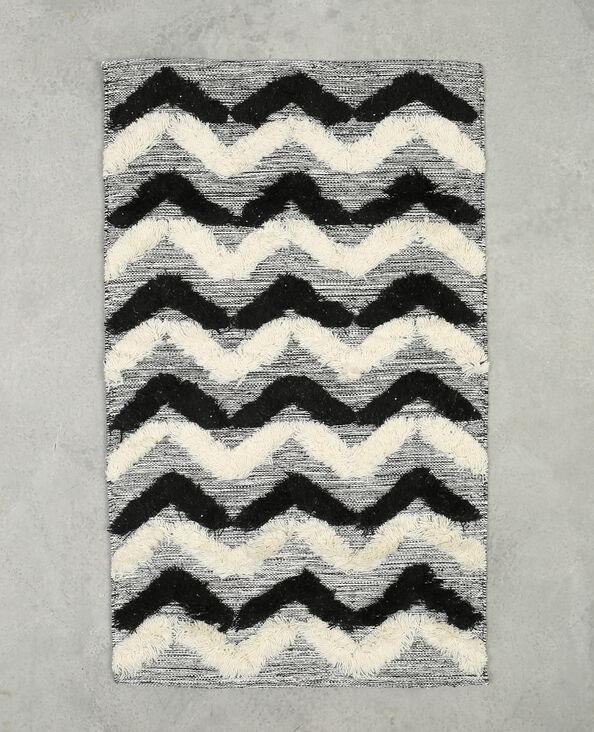 Tappeto con zigzag nero