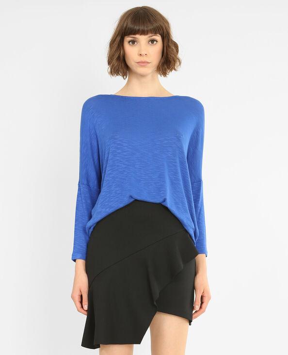 T-shirt maniche a pipistrello blu