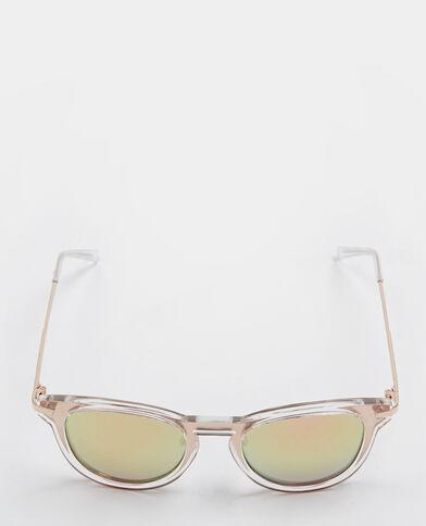 Occhiali da sole effetto specchio bianco