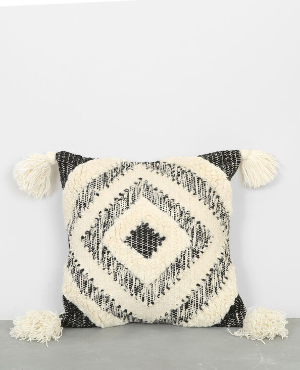 Federa per cuscino in stile berbero nero