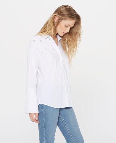 Camicia con gioielli bianco