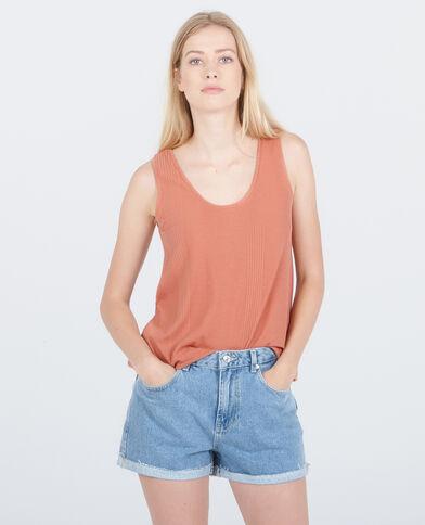 Canotta homewear a coste rosa