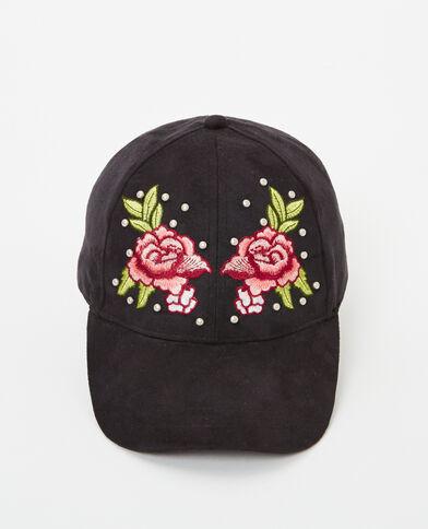 Cappellino ricamato nero