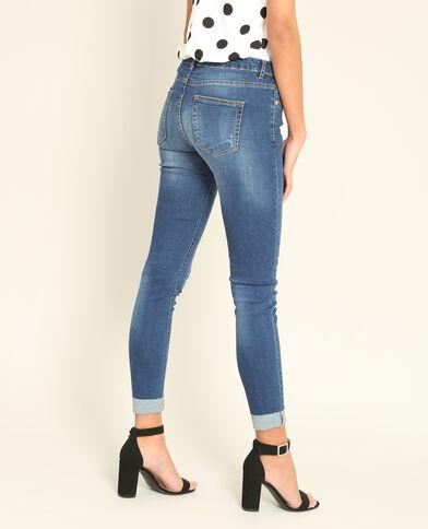 Jeans slim con lacci blu