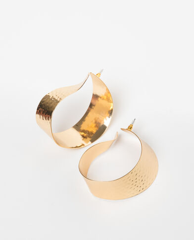 Maxi orecchini dorato