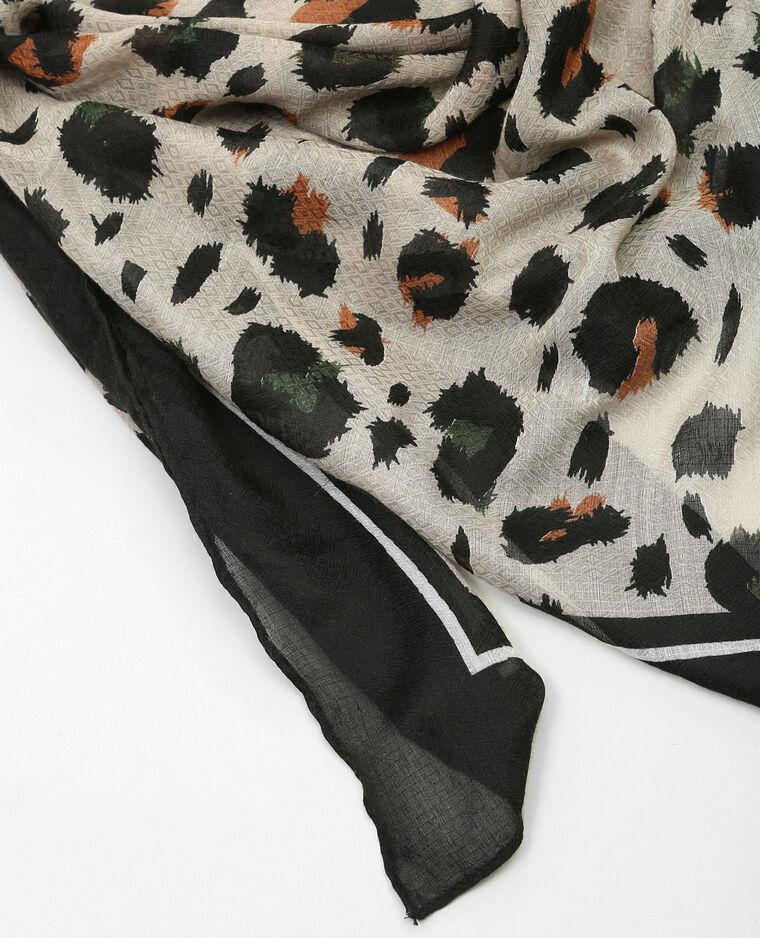 Foulard sottile stampato grigio