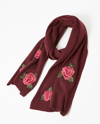 Sciarpa in maglia con patch granata
