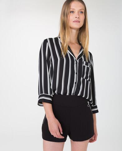 Camicia in stile pigiama nero