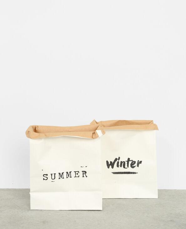Lotto da 2 sacchetti di carta bianco sporco