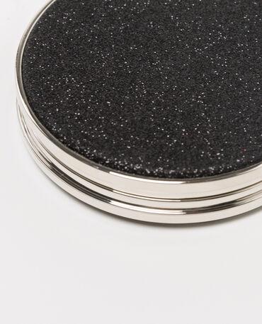 Specchio da tasca con paillettes nero