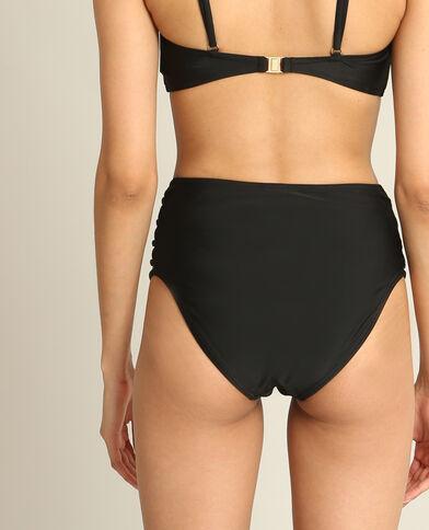 Pezzo sotto di bikini a vita alta nero