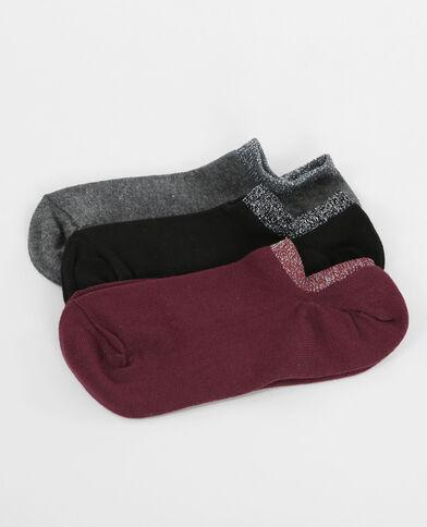 Lotto di calze invisibili lurex grigio