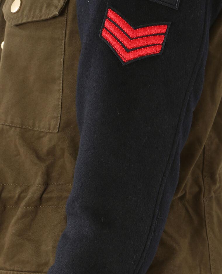 Parka army bimateriale. kaki