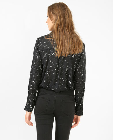 Camicia stampata nero