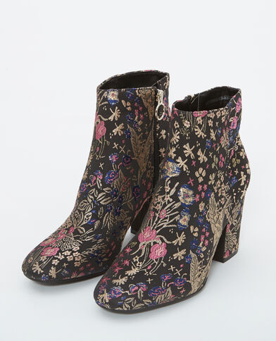 Boots ricamati nero
