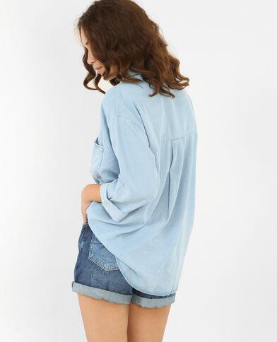 Camicia XL morbida blu