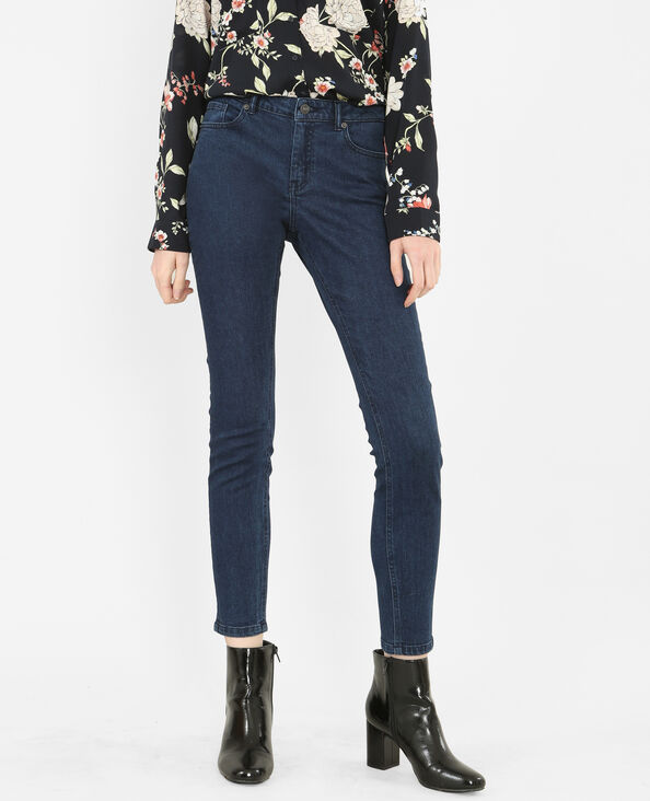 Skinny mid waist blu