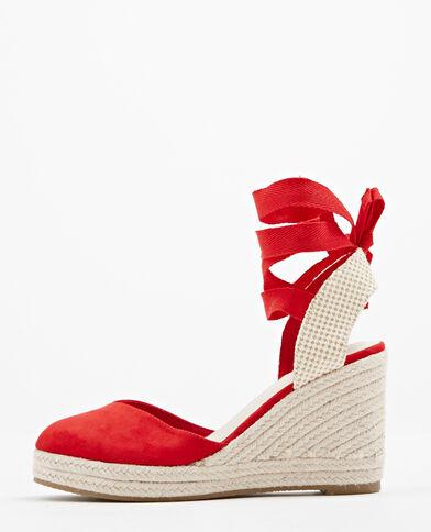 Sandali ballo casual rossi con punta aperta con stringhe per donna YFgHUt