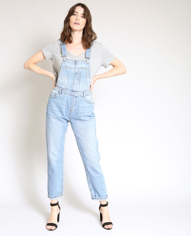 Salopette in jeans blu denim