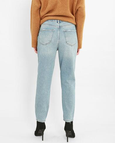 Jeans mom dettaglio perle blu