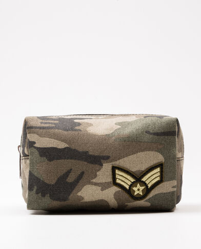 Trousse make-up army verde