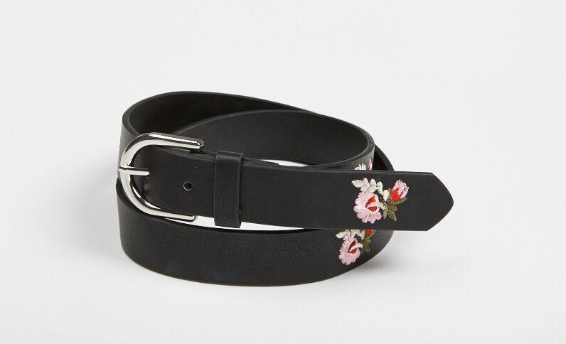 Cintura ricamata nero