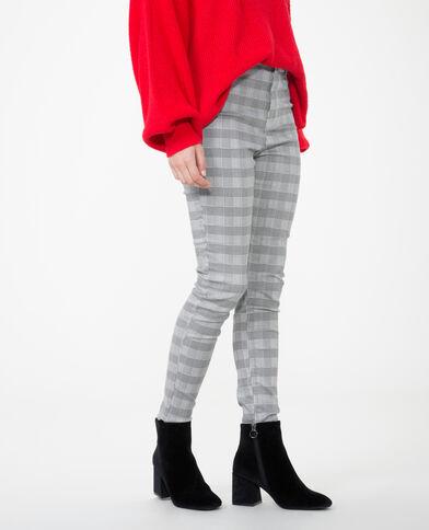 Pantalone skinny principe di Galles grigio
