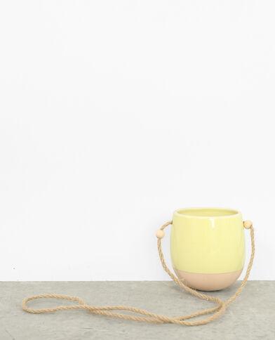 Vaso sospeso giallo fluo