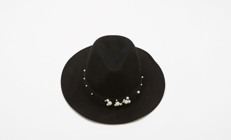 Fedora con perle nero