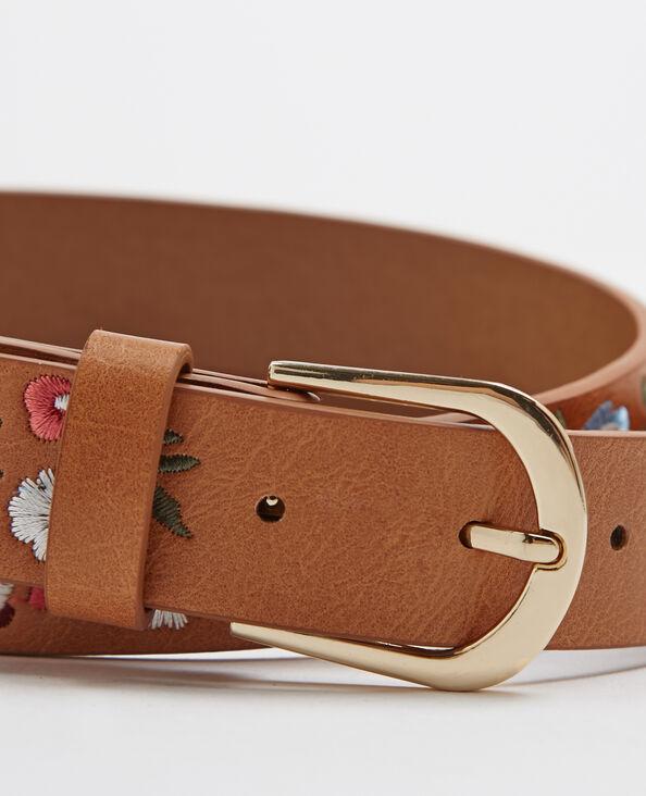 Cintura ricamata marrone