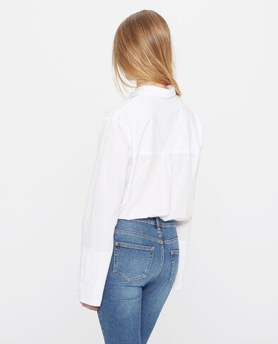 Camicia con tasca sul petto écru