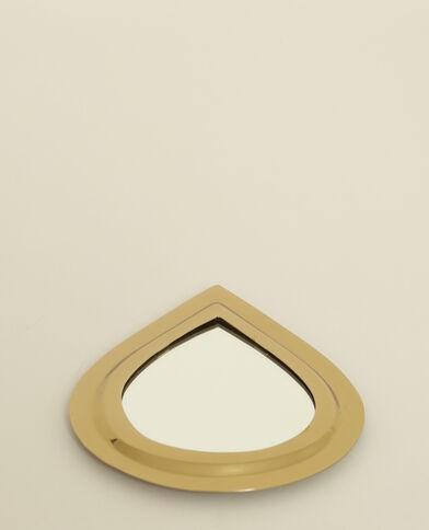 Piccolo specchio a goccia dorato