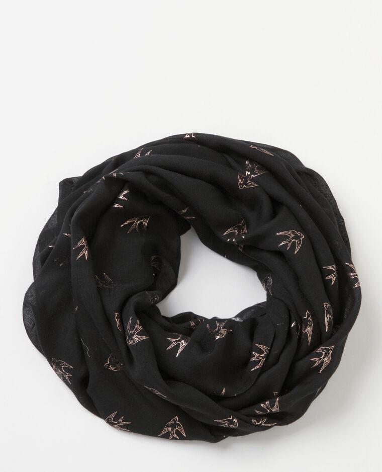 Foulard-collo stampato nero