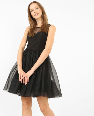 Abito da pattinatrice in tulle nero
