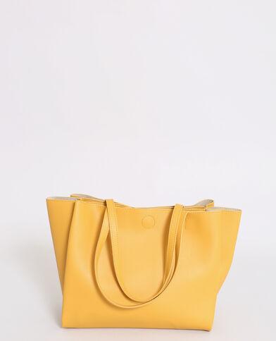 Borsa shopping morbida giallo