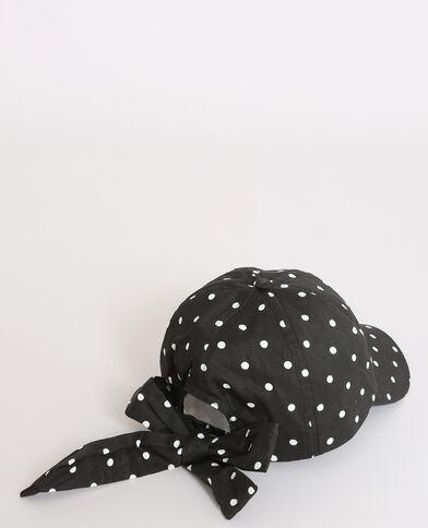 Cappellino a pois nero