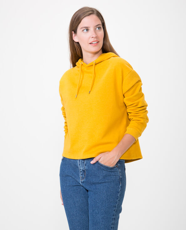 Felpa corta giallo