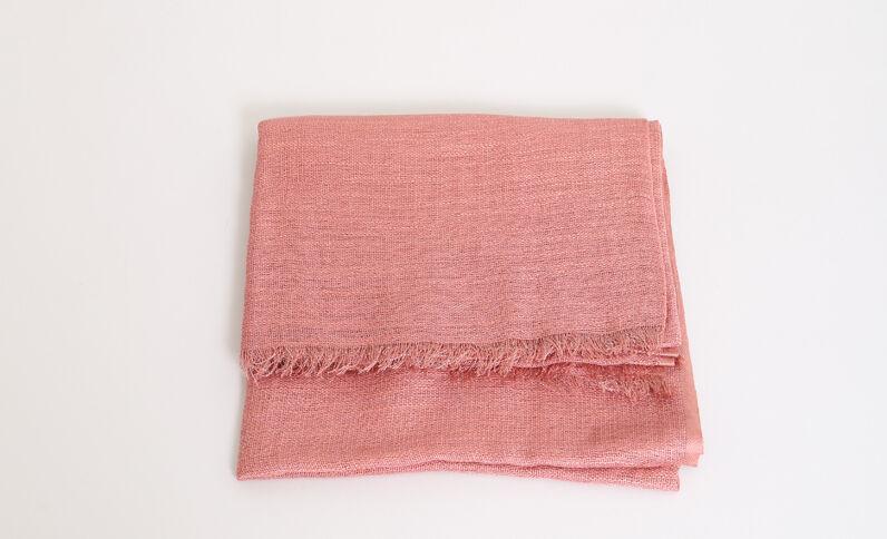 Foulard sottile rosa cipria