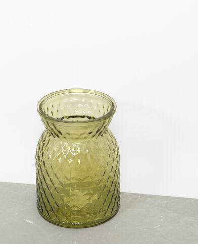 Vaso in vetro colorato verde