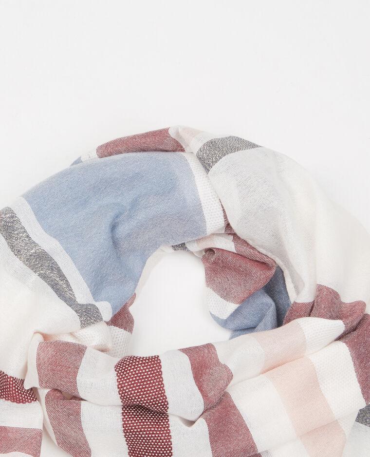 Foulard tessuto lurex beige