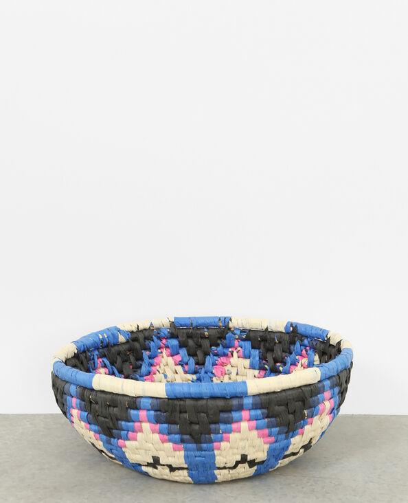 Cesto in corda multicolore nero