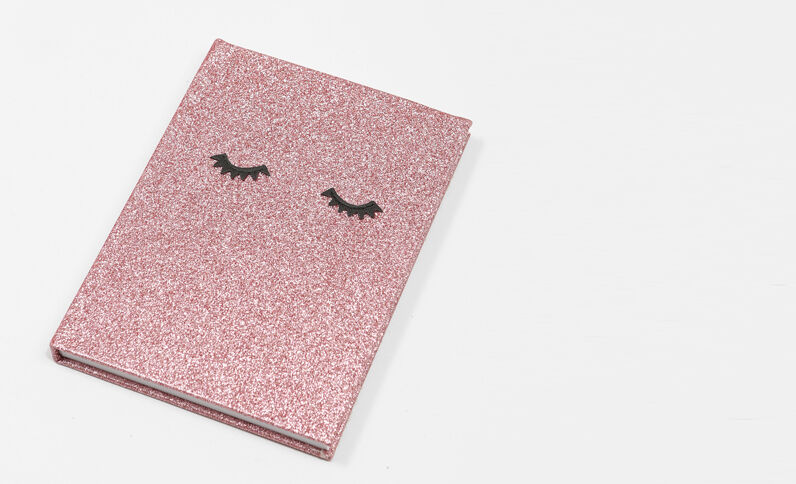 Block notes glitter rosa