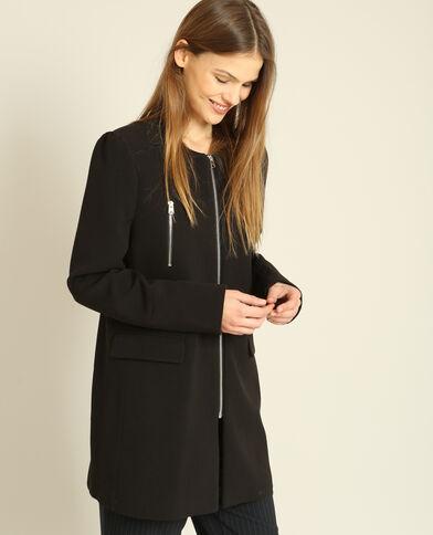 Cappotto con zip nero