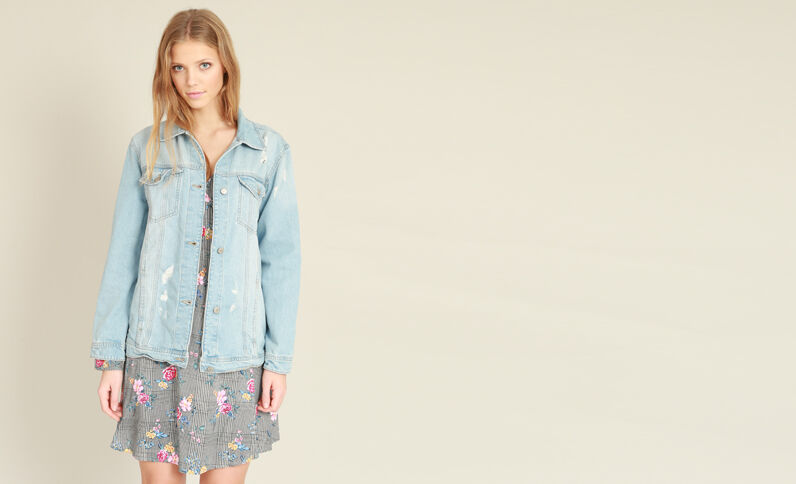 Giacca in jeans oversize blu