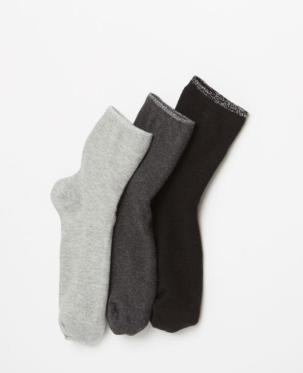 Lotto da 3 paia di calze grigio
