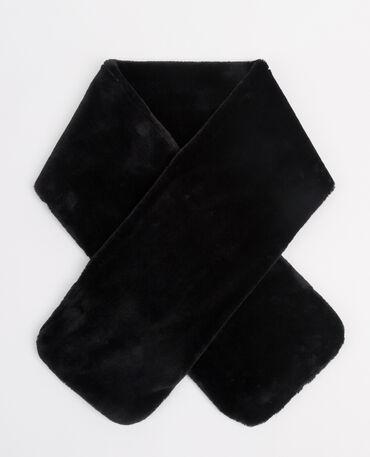 Collo pelliccia ecologica nero