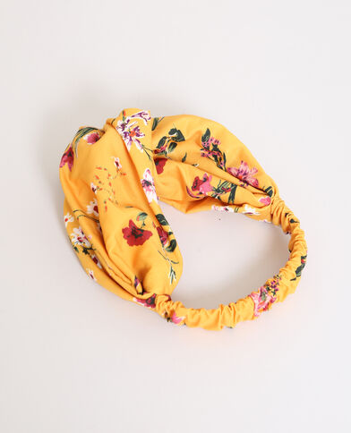Headband a fiori giallo