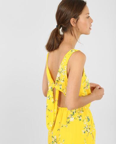 Salopette corta schiena scoperta giallo