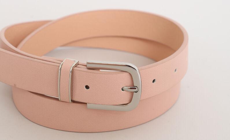Cintura in finta pelle rosa